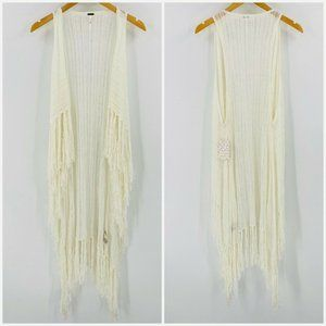 Free People Smokey Fringe Sweater Vest